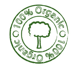 Organic stamp with tree