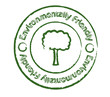 Environmentally friendly stamp with tree