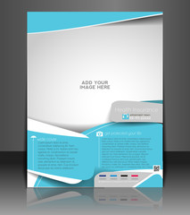 Vector Health Insurance Flyer, Magazine Cover