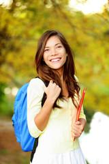 Asian student girl back to school university