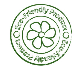 Eco-friendly product stamp with flower