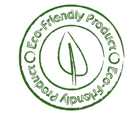 Eco-friendly product stamp with leaf