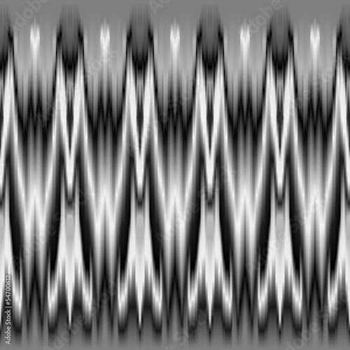 Black and white tie dye geometric seamless pattern, vector