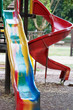 Playground slide and children's area