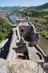 Ruins of the Strecno castle, Slovakia