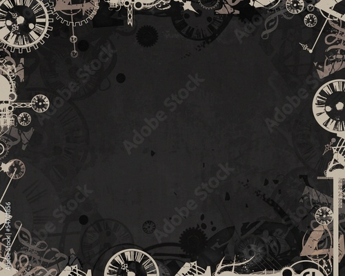 light clocks industrial frame dark background