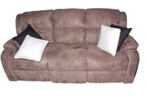 Luxurious brown suede sofa coach isolated