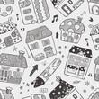 seamless house pattern