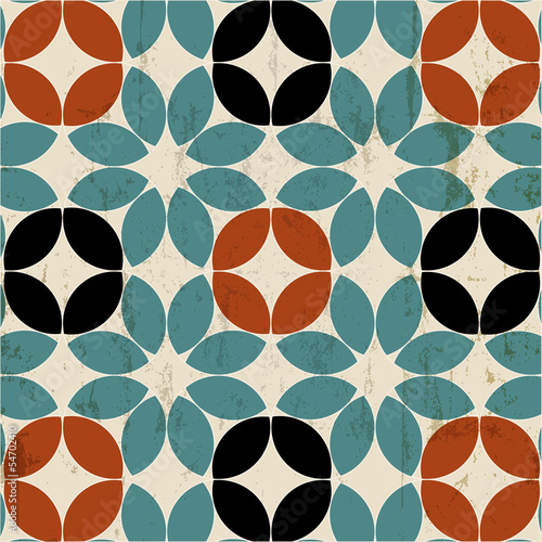 Spoed canvasdoek 2cm dik Kunstmatig seamless pattern background, retro/vintage style, mosaic
