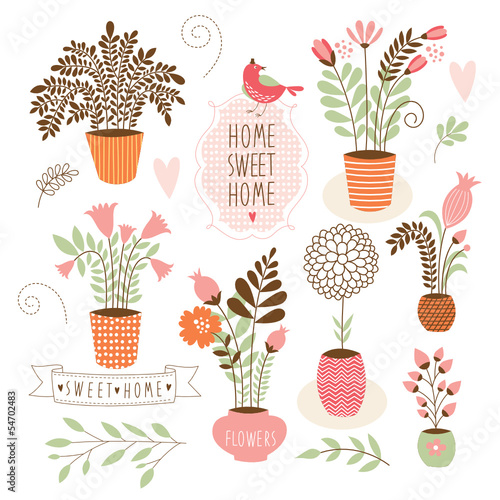 Sweet home ,set of  vector elements