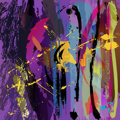 abstract background, w. paint strokes + splashes