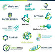 Set of business abstract icons