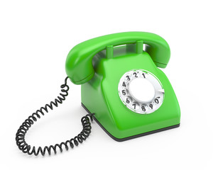 old rotary green phone