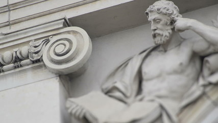 architectural detail classical statue