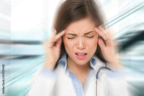 Migraine and headache people - Doctor stressed