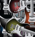 Electric guitars background