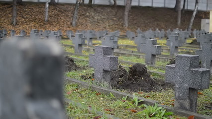 military graveyard crosses