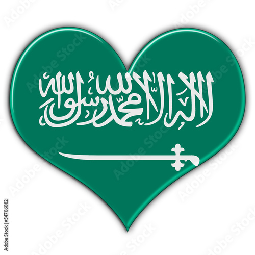 Heart with flag of Saudi Arabia