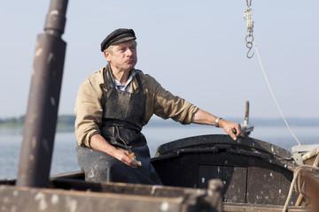 Fischer im Boot
