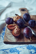 Ripe plums for a plum cake