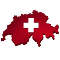 Schweiz 3D Karte
