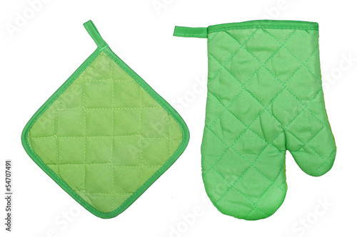 oven glove and potholder