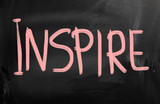Inspire handwritten with chalk on a blackboard