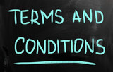 """Terms & Conditions"" handwritten with chalk on a blackboard"