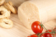 Parmesan cheese, cherry tomatoes and taralli