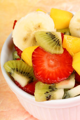 Fresh fruit salad close-up