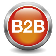 B2B glossy icon red