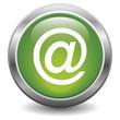 Icône bouton e-mail vert