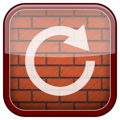 Bricks wall icon
