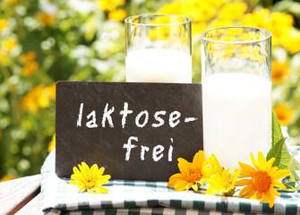 "Milch mit Tafel ""laktosefrei"""