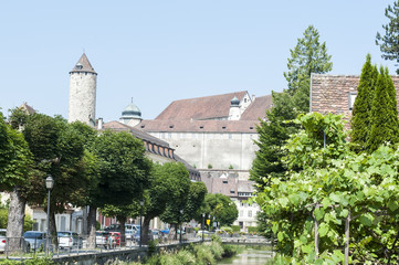 Porrentruy, Uhrenstadt, Jura, Schweiz