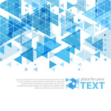Abstract color triangles  design vector