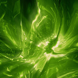 Shining green liquid background