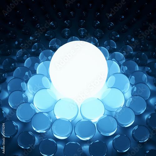 duzy-lsnienia-swiatla-i-szkla-sfery-tlo