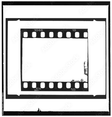 Set of negative picture frames,free copy space, isolated on whit