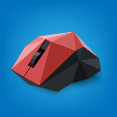 Vector abstract computer mouse