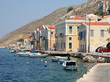 Typical Symi Houses and Boats by the Sea