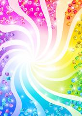 虹色スパンコール