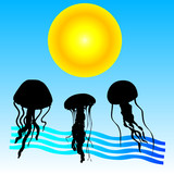 jellyfish cartoon art vector illustration
