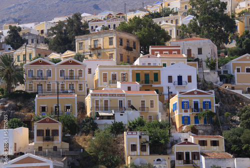Old and Traditional Colorful Houses of Symi İsland