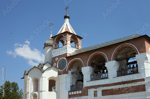 Bells in russian orthodox monastery, The Golden Ring of Russia