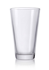 Empty glass isolated on a white background