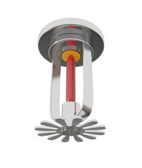Ceiling Fire Sprinkler isolated on white