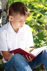 boy reading book