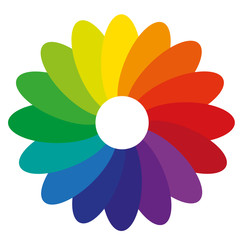 Farbverlauf Blume Farbspektrum