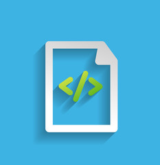 Vector file / program flat icon